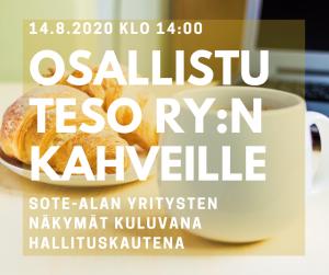 TESO ry torikahvit 14.8.2020